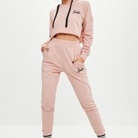Missguided - Barbie x Missguided Pink Jogger