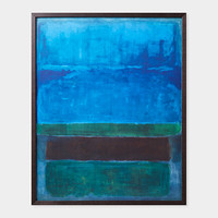Rothko: Untitled [Blue, Green, And Brown] Framed Print