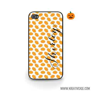 Halloween Phone Case, Pumpkins, Personalized iPhone Case, iPhone 4, iPhone 5, Samsung Galaxy S4, S5, Blackberry Cases, Phone Cover - H001