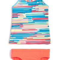Girl's Nike 'Frequency' Tankini Two-Piece Swimsuit