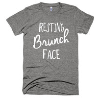 Resting Brunch Face, vintage style, soft t-shirt, gift, vacation, American Apparel, workout, funny, music, festival, gym, beach