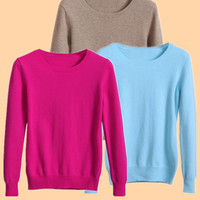 2016 NEW European Women's Sweater High Quality Pure Color Autumn Spring Fashion Outwear Pullovers Knitted Cashmere Sweater