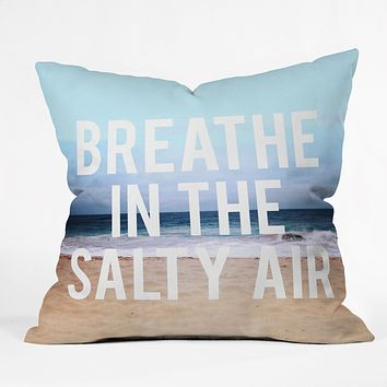 Leah Flores Breathe Throw Pillow