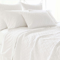 Argyle White Quilted Bedding design by Pine Cone Hill