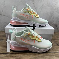 Morechoice Tuho Nike Air Max 270 React Running Shoes Pale Ivory Light Jogging Shoes Cv8818-102
