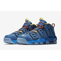 Nike Air More Uptempo Doernbecher Blue Jay/Gym Red-Team Orange-Blue Jay AH6949-446 Men Sneakers