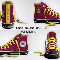 Custom Harry Potter: House Gryffindor Converse Chucks