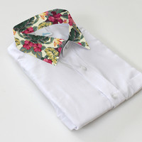 ANDCLOTHING — AND.ALSO Floral Tropical Collar Shirt