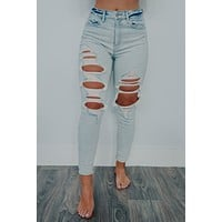 Count On Me Jeans: Light Denim