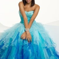 Long Ombre Strapless Tulle Dress from Camille La Vie and Group USA