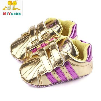 3 Sizes Toddler Kids Baby Boy Soft Artificial PU Comfortable Shoes Learning Walk Cute And Sweet Design 3 Colors