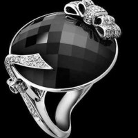 AMAZING 10.61CT BLACK OVAL STUD 925 STERLING SILVER ENGAGEMENT AND WEDDING RING