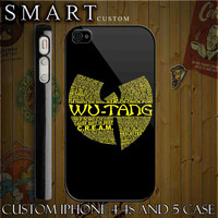 Wu Tang Logo Art  Black Custom For  Iphone  44s And by smartcustom