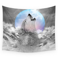 Society6 Maybe The Wolf Is In Love With The Moon Wall Tapestry