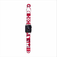 """Noonday Design """"Red Fairisle Christmas Pattern"""" Red White Apple Watch Strap"""