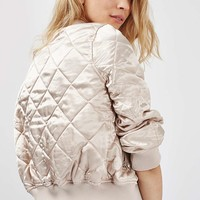 PETITE Quilted MA1 Bomber - Topshop