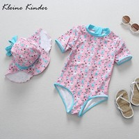 1 Piece Baby Girl Swimwear Cartoon Giraffe Children Swimsuit Bodysuit Toddler Girl Bathing Suit Swimming Suits Baby Zwemkleding