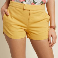 Positively Polished Shorts in Yellow