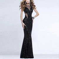 Black Sequined Maxi Dress