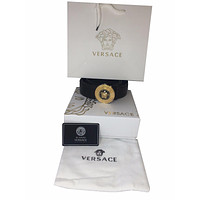 NEW Men's Versace Palazzo Calf Leather Black Belt, Made in Italy, from 95 & 100