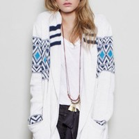Wide Collar Thick Cardigan - TOPS - Shop Online