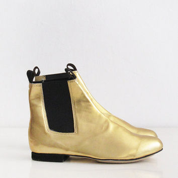 Gold Chelsea Boots