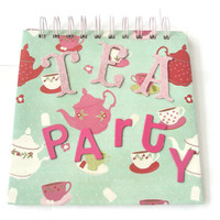 Tea Party Note book Recipes book retro style Diner chic gifts for bakers gifts for her