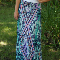 Looking Into Your Eyes Maxi Skirt