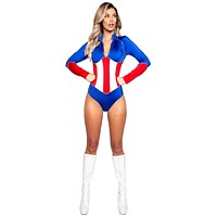 Sexy All American Girl Romper Halloween Costume