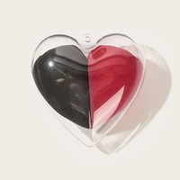 Half Heart Shaped Makeup Sponge With Case 3pack
