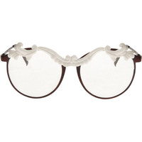 MOO Circular glasses with porcelain