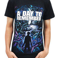 A Day To Remember T Shirt Homesick Men Black Cotton Shirts Top Tee Size S - 2XL