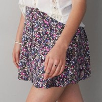 AEO PRINTED BUTTON FRONT CIRCLE SKIRT