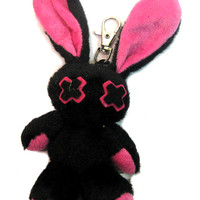 Luv Bunny Key Chain Doll Pink   Gothic Clothing   Emo clothing   Alternative clothing   Punk clothing - Chaotic Clothing