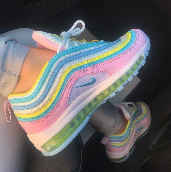 Image of Nike Air Max 97 Hot Sale Women Casual Rainbow Running Sport Shoes