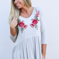 Stop & Smell The Roses Top {Taupe}