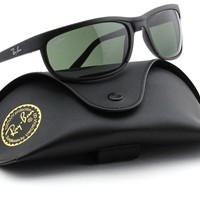 Ray-Ban RB2027 W1847 PREDATOR 2 Matte Black / Green Lens