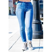 Stacy Cello Midrise Skinny Pull on Jeans