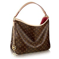 Authentic Louis Vuitton crossbody  handbag  Classic  Simple  Wanelo  ladies  fashion Best Seller formal  Monogram Delightful MM Handbag Article: M50156 Made in France