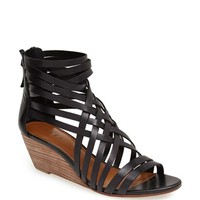 Women's Hinge 'Neta' Leather Wedge Sandal,