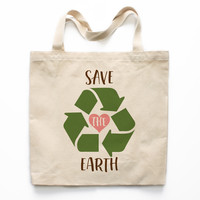 Save The Earth Canvas Tote Bag