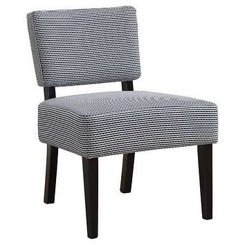 """27.5"""" x 22.75"""" x 31.5"""" Blue Foam Accent Chair with Solid Wood Frame"""