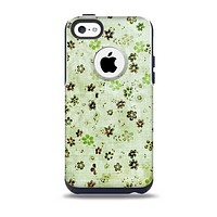 The Vintage Green Tiny Floral Skin for the iPhone 5c OtterBox Commuter Case
