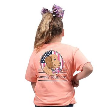 Youth Preppy Doodle Tee by Simply Southern