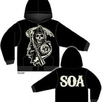 Sons of Anarchy Large Muted Grim Reaper Hoodie