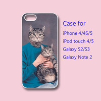 Cats - iPhone 4 case, iPhone 5 case, ipod touch case , galaxy s3 case , galaxy note 2 case