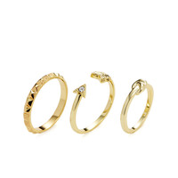 Pixie Grey Women's Stackable Ring Set & Midi Ring - Gold -