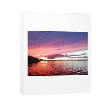 Canvas On The River Sunset
