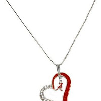 Alabama Crimson Tide Crystal Heart Necklace
