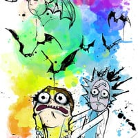 Rick and Morty in Las Vegas A4 Art print